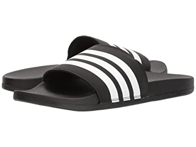 adidas Adilette Comfort (Black/White/Black) Men