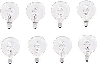Mandala Crafts Replacement Light Bulbs for Scent Wax Warmer, Candle Melt, Fragrance Burner, Oil Diffuser, Lamp, E12,120v 25-Watt G50, 8 Pack