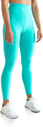 Kamo Fitness High Waisted Soft Leggings 7/8 Length Seamless Waistband Pattern Tights