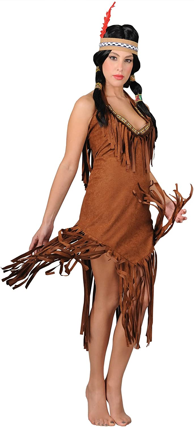Stamco  Women's Indian Squaw Fancy Dress Costume