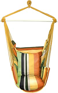 Sorbus Hanging Rope Hammock Chair Swing Seat for Any Indoor or Outdoor Spaces