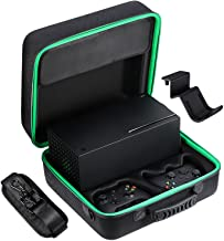 Zadii Hard Carrying Case Compatible with Xbox Series X, Protective Travel Bag for Xbox Series X Console, Controllers, Cabl...