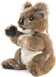 Folkmanis Koala Hand Puppet Plush, Gray-Brown/White