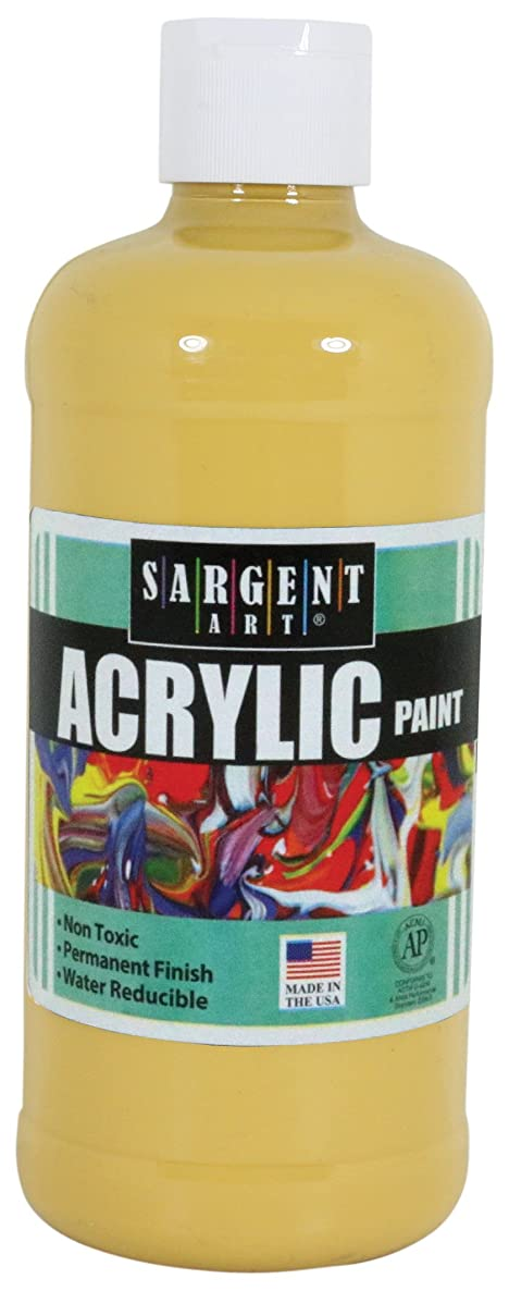 Sargent Art 24-2424 16-Ounce Acrylic Paint, Antique Yellow