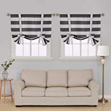 gray white striped curtains