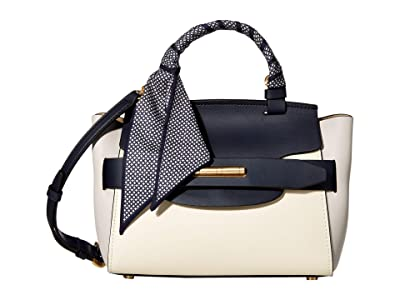 ZAC Zac Posen Brigette Belted Satchel Color Block (Multi/Parisian) Handbags