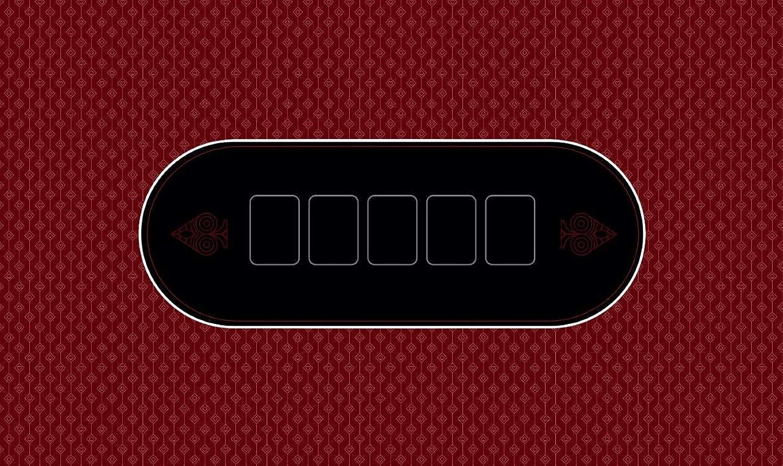 T2F Poker Mat Néo Red