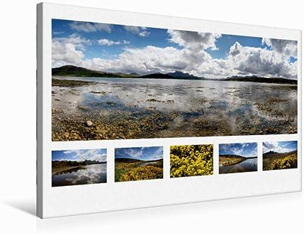 Calvendo Martina Cross Premium - Tela 45 x 30 cm, Orizzontale Kyle of Tongue, Panorama Sutherland 5, Scozia, 75x50 cm