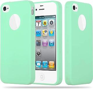 bf0f6d6f84c Cadorabo Funda para Apple iPhone 4 / iPhone 4S en Candy Verde Pastel –  Cubierta Proteccíon
