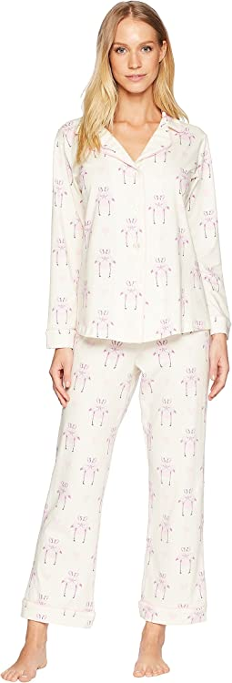 Flamingos in Love Long Sleeve Long Pajamas