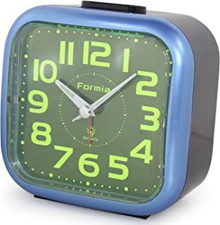 FORMIA 目覚まし時計 アナログ アラーム 切替 集光文字盤 メタリックブルー N-HT101BU