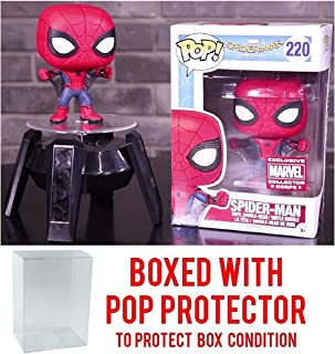 Funko Pop! Marvel Collector Corps: Spider-Man Homecoming - Spider-Man with Web Wings Exclusive - Vinyl Figure (Bundled with Pop BOX PROTECTOR CASE)