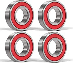 4 Pcs 6201-2RS Ball Bearings (12x32x10mm) Double Rubber Red Seal Bearing, Deep Groove for Garden Machinery, Electric Toys and Tool, etc.