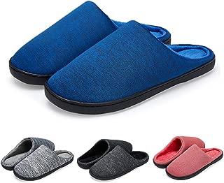 LEKUNI Femmes Hommes Chaussons Pantoufles M/émoire Mousse Souple Dames Maison Chaussures dhiver Chaud Int/érieur Pantoufles Anti-Slip L/éger