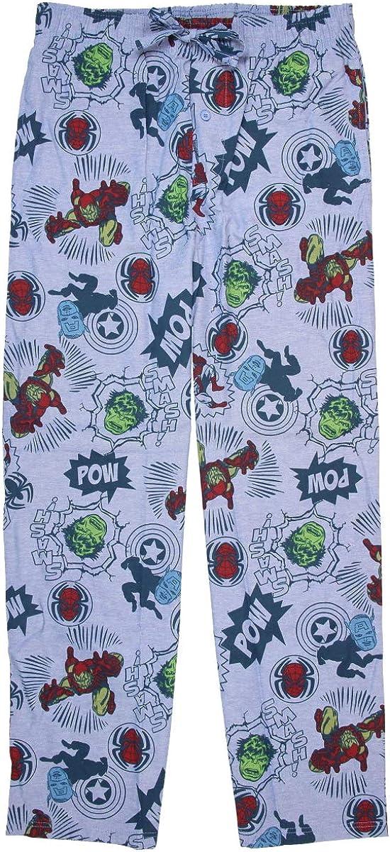 Mad Engine Marvel Superheroes Comic Book Men's Sleep Lounge Pajama Pants