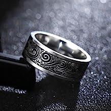 Titanium ringen voor mannen en vrouwen Verjaardagscadeau driehoekige patroon in diskrediet Ring