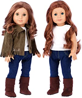 Siege Jacket - 4 Piece Outfit - Jacket, Tank top, Jeans and Boots - 18 inch Doll Clothes - (Doll not Included)