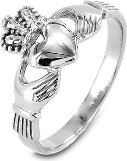 West Coast Jewelry | ELYA Stainless Steel, Love, Loyalty, Friendship Irish Claddagh Ring