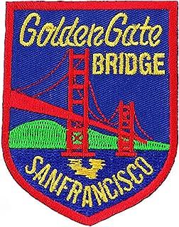 Golden Gate Bridge Embroidered Patch San Francisco Iron-On Souvenir Emblem