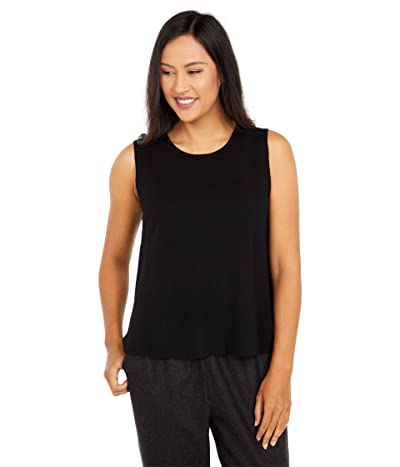 Eileen Fisher Crew Neck Shell (Black) Women