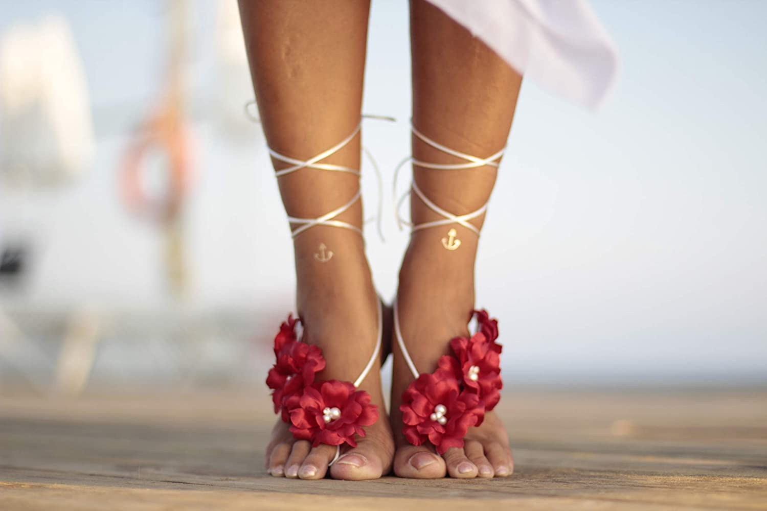 Japan Maker New Beach wedding barefoot sandals bangle 2021 spring and summer new cuff anklet