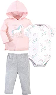 Unisex Baby Cotton Hoodie, Bodysuit or Tee Top and Pant Set