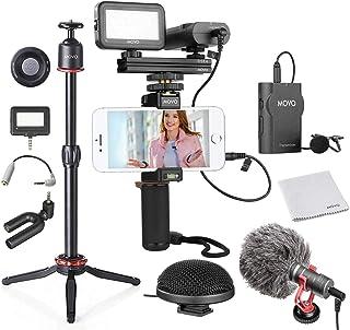 Sponsored Ad - Movo Huge Smartphone Video Kit V8 with Mini Tripod, Grip Rig, Wireless Shotgun Mini and 360° Stereo Microph...