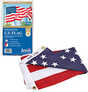 Annin Flagmakers 2720 American Flag Tough-Tex The Strongest, Longest Lasting, 4x6 ft, 100% Made in USA with Sewn Stripes, ...