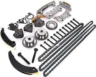 موتور زمان بندی زنجیره ای کیت w / راهنمای زنجیره ای Tensioner Sprocket برای Buick Enclave Lacrosse کادیلاک CTS SRX Chevy Equinox Malibu ترمز GMC Acadia جایگزین # 9-0753S