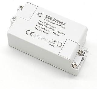 Adaptador LED VARICART IP44 12V 1.25A 15W, Fuente de Alimentación Conmutada Regulación Universal AC DC, Transformador Constante Voltaje Cámara CCTV Tira de Luz G4 MR11 MR16 GU5.3 Bombilla (Pack de 1)