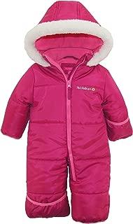Baby Girls' One-Piece Puffer Winter Snowsuit with Hood (Newborn & Infant)