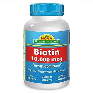 Sponsored Ad - Nova Nutritions Biotin 10,000 mcg 200 Capsules by Nova Nutritions