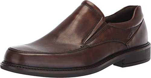 ECCO Men's Holton Apron Toe Slip On Loafer, Coffee, 48 M EU (14-14.5 US)