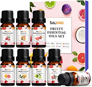 Fruttati Oli Essenziali per Diffusori 8x10ml, SALKING Set di Olio Essenziale Puri per Aromaterapia e Massaggi - Cocco, Mir...