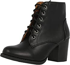 Amazon.com: Lace Up Booties
