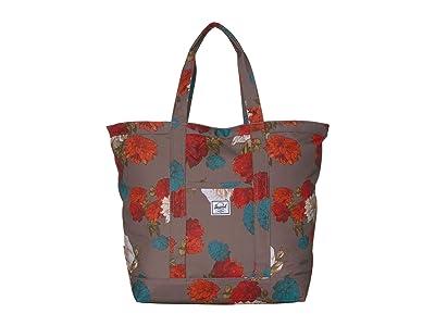 Herschel Supply Co. Bamfield Mid-Volume (Vintage Floral Pine Bark) Tote Handbags