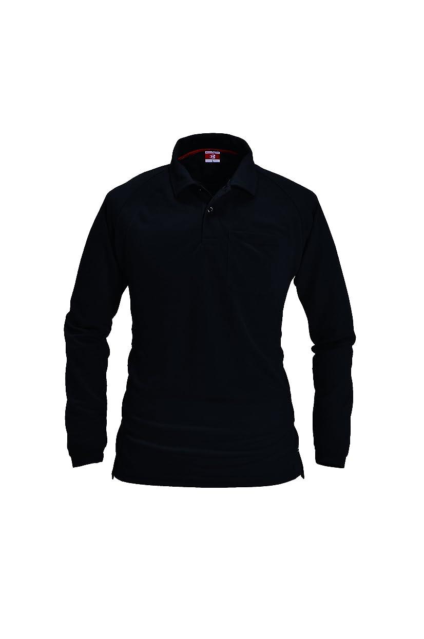 リンク慣性適応するBURTLE バートル 長袖ポロシャツ 春夏用 103 35 ブラック L