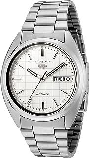 Seiko Men's SNXF05 Seiko 5 Automatic White Dial Stainless Steel Watch