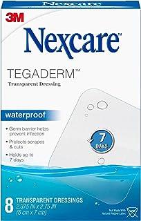 Nexcare Tegaderm Waterproof Transparent Dressing, Film, The #1 Hospital Brand, 8 Ct,..