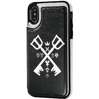 Iphonex/Iphonexs兼用 キングダムハーツ 手帳型 アイフォンケース 多機能スマホケース Iphonex/Xsケース 薄型 スマホカバー Puレザー マグネット付き ワイヤレス充電対応 スタンド機能 シンプル カード収納 Icカード収納 5.8インチ