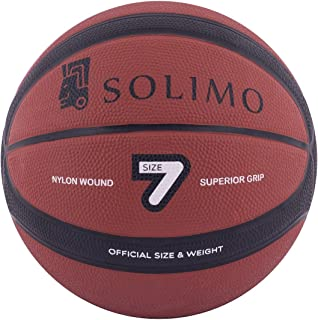 Amazon Brand - Solimo Basketball 14-Panel (Red)