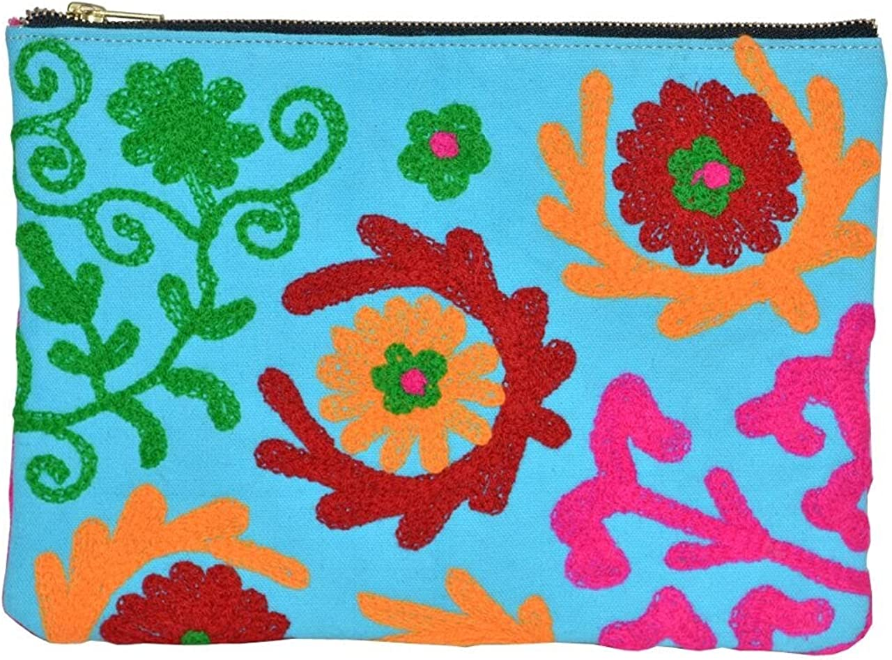 Embroidery Suzani Women Clutch Colourful Thread Indian Embroidery Bag
