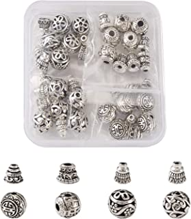 925 Sterling Silver Chrome Sword Guru Bead Antique Silver Guru Bead Spacer Beads DIY Accessories Jewelry Findings 10mm 3 Hole