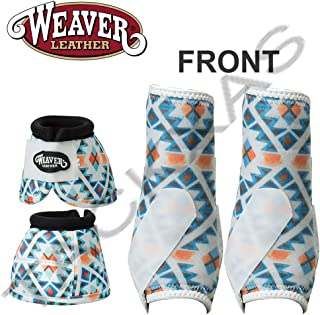 MED PRODIGY Horse Front Neoprene Athletic Sports Bell Boots Winter Aztec