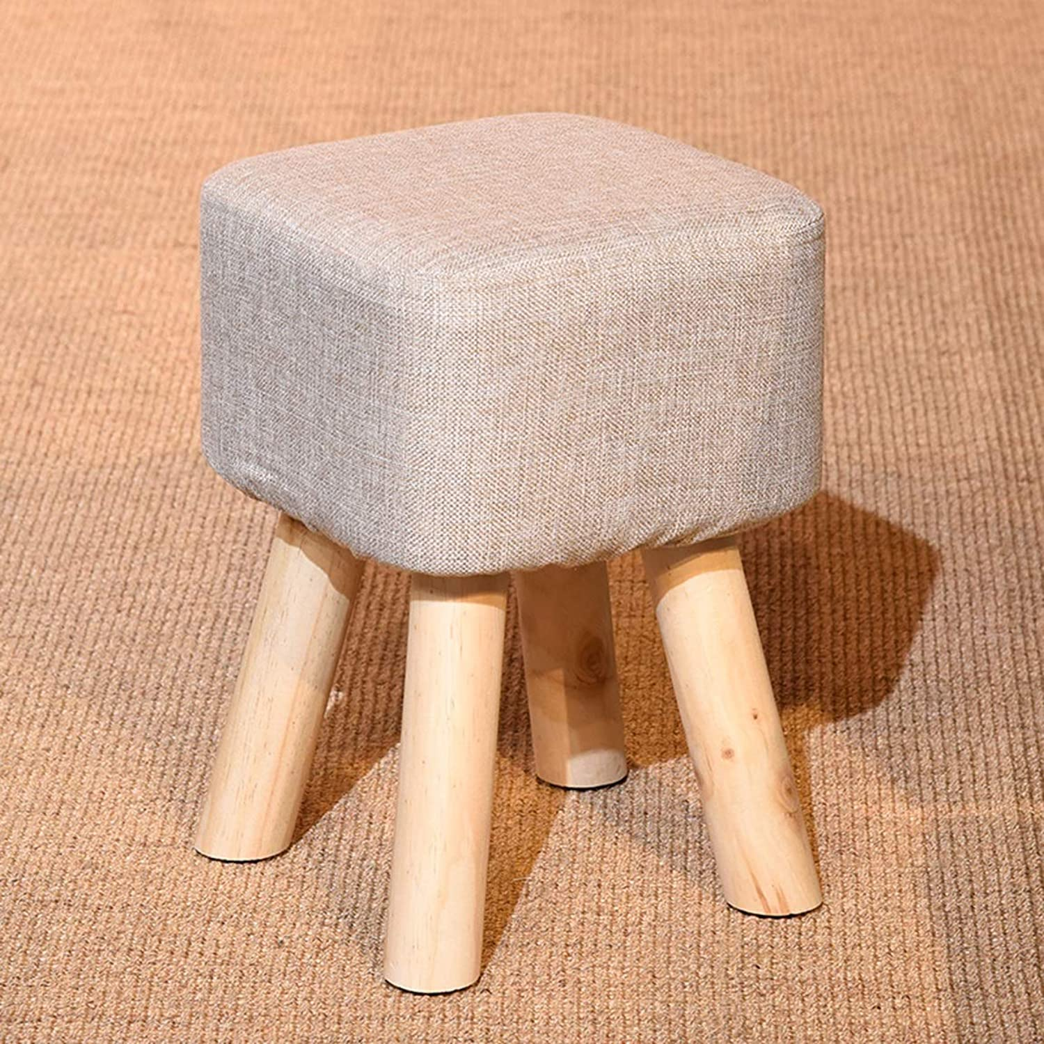 HZB Small Stool Solid Wood Household Creative Fashion Living Room for shoes Stools Fashion Dresser Stools Sofa Stools Bench (color   Grey)