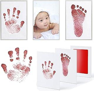 Mcree 6-Pcs Multicolors Baby Ink Pad for Baby Footprints Handprints Fingerprints Kit Perfect Keep Baby Memory Baby Shower Gift