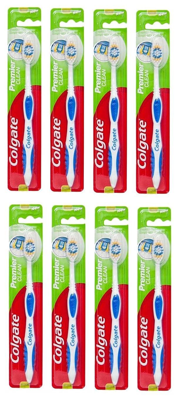 キャプテンブライ一握りガイドラインColgate Premier Clean コルゲート 歯ブラシ 8個 [並行輸入品]