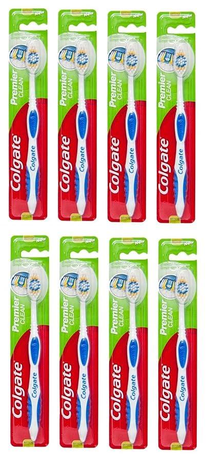 クアッガ方法力Colgate Premier Clean コルゲート 歯ブラシ 8個 [並行輸入品]