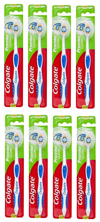 窓証明する傘Colgate Premier Clean コルゲート 歯ブラシ 8個 [並行輸入品]