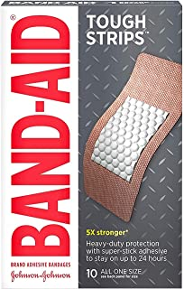 Band-Aid Brand Tough Strips Adhesive Bandage for Minor Cuts & Scrapes, Extra Large Size, 10 ct (Pack of 2)